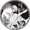 Merlin (Märchen-Illustration von O. Beardsley)