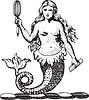 Meerjungfrau mit einem Spiegel