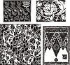 florale Muster im Jugendstil