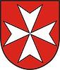 Schild mit Kreuz