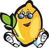 Vector clipart: lemon with glasses