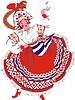 russische Frau tanzt