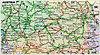 Straßenkarte von Österreich
