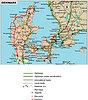Straßenkarte von Dänemark