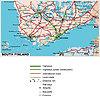 Straßenkarte von Süd-Finnland