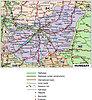 Straßenkarte von Ungarn