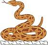 Helmkleinod mit Schlange