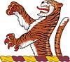 Helmkleinod mit Tiger