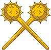 Vector clipart: crossed maces