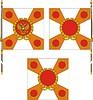 Vorlage der Fahne der Russischen militärischen Einheit