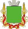 Wappenschild mit der Krone, Band und Ähren