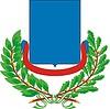 Wappenschild mit Kranz aus Eichen- und Lorbeerblättern