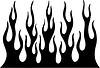 vertikale Flamme