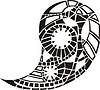 halbkreisförmiges Ornament