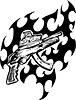 Pistole Flammentattoo