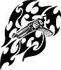 Revolver Flamme Tattoo