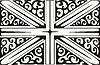 Union Jack ornamentales Muster