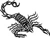 scorpion flame tattoo