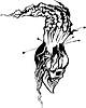 skull-volcano tattoo