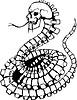 Schädel-Schlange Tattoo