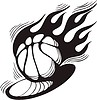 Basketball Flamme