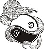 tribal snake tattoo (ying-yang)