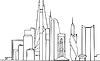 Skyline von Moscow City-Projekt