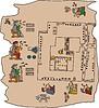 Seite von aztekisches Manuskripts