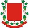 Wappenschild mit Traubenkranz