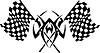 symmetrisches Rennentattoo