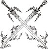 Vector clipart: crossed swords