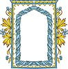 artistic frame with wreath