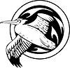 Rundes Albatros Tattoo