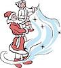 Дед Мороз и Снегурочка запускают метель