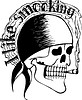 I like smoking (skull tattoo)