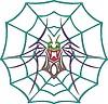 symmetrisches Spinne und Gewebe Tattoo