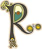 keltischer Buchstabe R