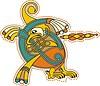 keltischer Buchstabe mit Vogel