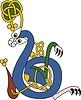 keltischer Buchstabe B