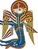 Kalb - Symbol von Lukas Evangelist (B. of Kells)