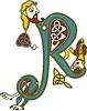 celtic initial letter R