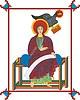 Evangelist Johannes (Lindisfarne E.) mit Adler