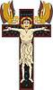 Kreuzigung begleitet mit zwei Engeln