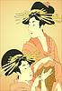 Zwei Frauen (von Utamaro)