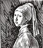 Das Mädchen mit dem Perlenohrgehänge; von J. Vermeer