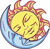 sleeping moon and solar design