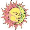Durmiendo diseño solar y la luna | Ilustración vectorial