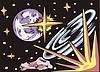 Außerirdische Weltraum-Landschaft
