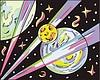 Weltraum-Landschaft mit Exoplaneten