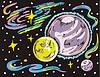 Weltraum Landschaft mit Planeten